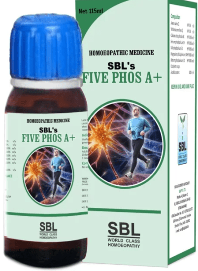 SBL Five Phos A+ Tonic for general weakness, lack of vitality and anemia, chronic fatigue