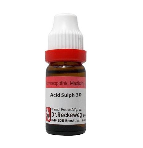 Dr Reckeweg Germany Acidum Sulphuricum Homeopathy Dilution 6C, 30C, 200C, 1M, 10M, CM