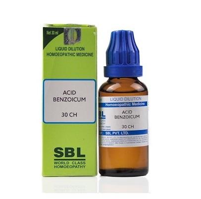 SBL Acidum Benzoicum Homeopathy Dilution 6C, 30C, 200C, 1M, 10M, CM