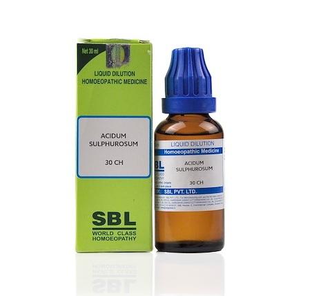 SBL Acidum Sulphurosum Homeopathy Dilution 6C, 30C, 200C, 1M, 10M, CM