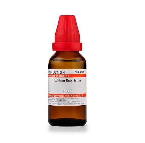 Schwabe Acidum Butyricum Homeopathy Dilution 6C, 30C, 200C, 1M, 10M, CM