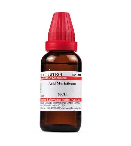 Schwabe Acidum Muriaticum Homeopathy Dilution 6C, 30C, 200C, 1M, 10M, CM