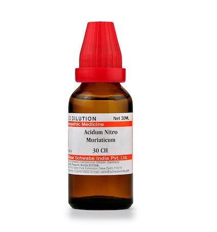 Schwabe Acidum Nitro Muriaticum Homeopathy Dilution 6C, 30C, 200C, 1M, 10M, CM