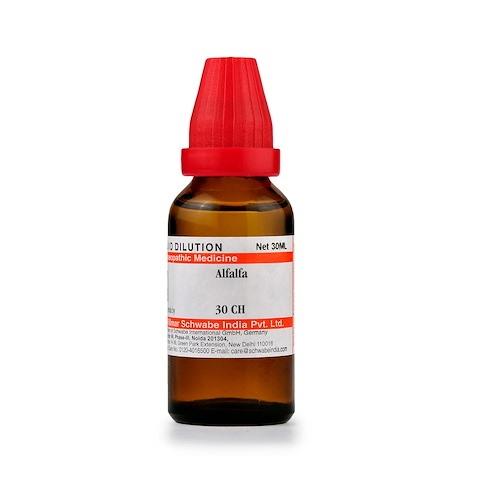 Schwabe Alfalfa Homeopathy Dilution 6C, 30C, 200C, 1M, 10M