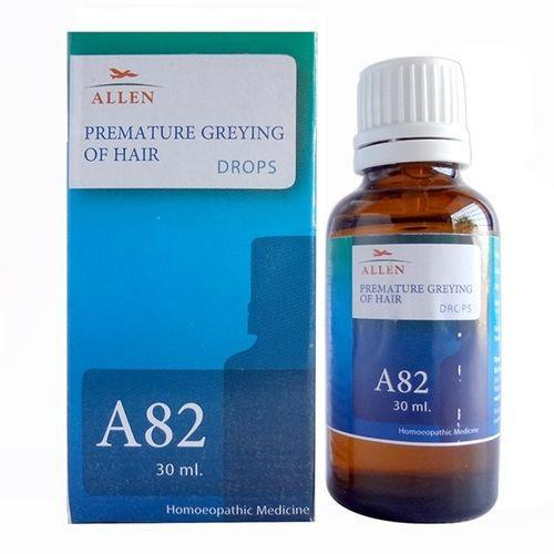 Allen A82 Homeopathy Drops for Premature Greying of Hair, white hair treatment