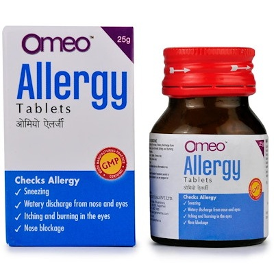 BJain Omeo Allergy Tablets for Nasal Allergiee like sneezing, watery discharge from nose, itching in eyes, nose block