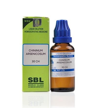 SBL Chininum Arsenicosum Homeopathy Dilution 6C, 30C, 200C, 1M, 10M, CM
