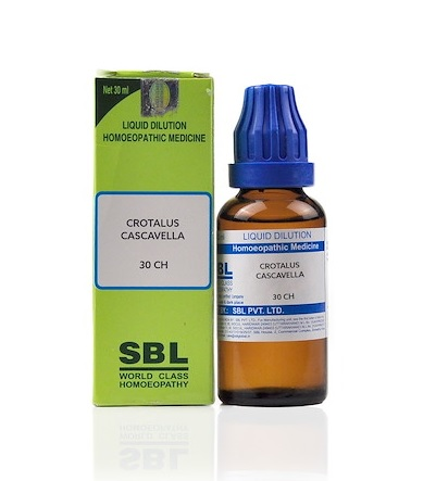 SBL Crotalus Cascavella Homeopathy Dilution 6C, 30C, 200C, 1M, 10M