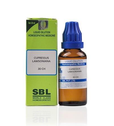 SBL Cupressus Lawsoniana Homeopathy Dilution 6C, 30C, 200C, 1M, 10M