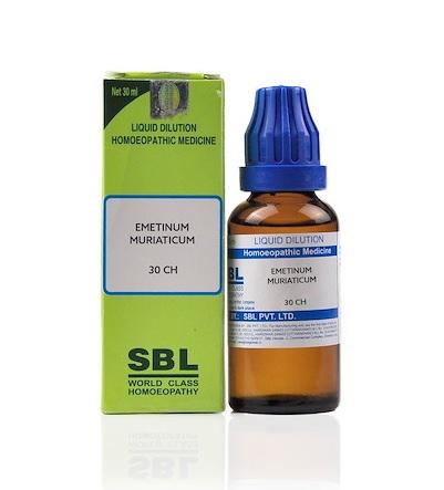 SBL Emetinum Muriaticum Homeopathy Dilution 6C, 30C, 200C, 1M, 10M, CM