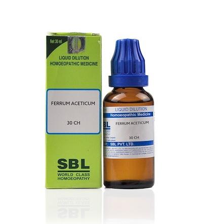 SBL Ferrum Aceticum Homeopathy Dilution 6C, 30C, 200C, 1M, 10M, CM