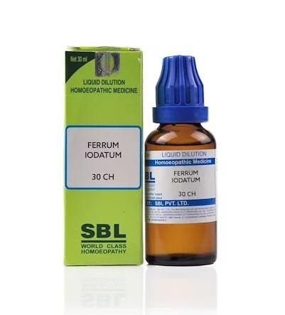 SBL Ferrum Iodatum Homeopathy Dilution 6C, 30C, 200C, 1M, 10M, CM