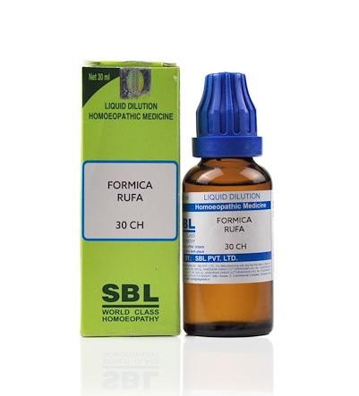 SBL Formica Rufa Homeopathy Dilution 6C, 30C, 200C, 1M, 10M, CM