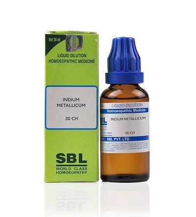 SBL Indium Metallicum Homeopathy Dilution 6C, 30C, 200C, 1M, 10M, CM