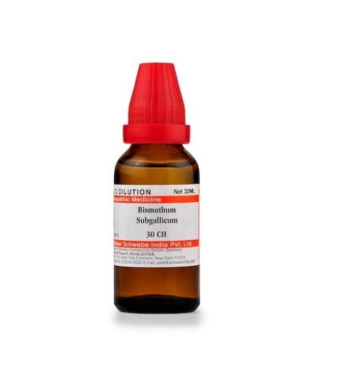Schwabe Bismuthum Subgallicum Homeopathy Dilution 6C, 30C, 200C, 1M, 10M