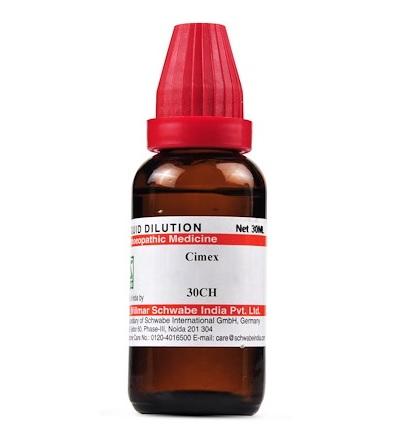 Schwabe Cimex Lectularius Homeopathy Dilution 6C, 30C, 200C, 1M, 10M, CM