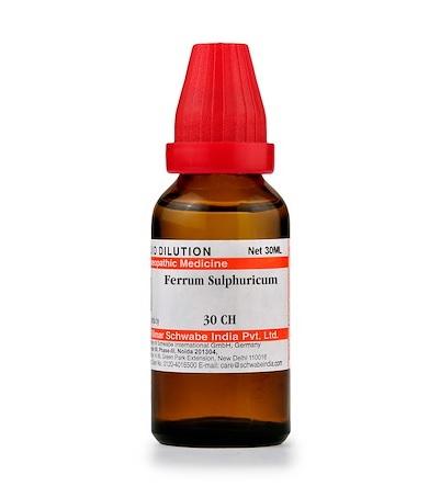 Schwabe Ferrum Sulphuricum Homeopathy Dilution 6C, 30C, 200C, 1M, 10M, CM