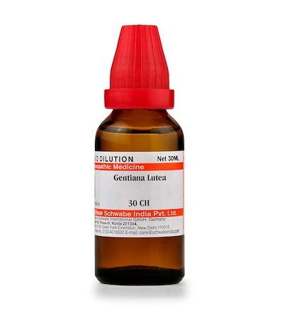 Schwabe Gentiana Lutea Homeopathy Dilution 6C, 30C, 200C, 1M, 10M, CM