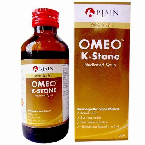 Omeo K Stone Medicated syrup for Renal colic, Burning Urine ,100ml