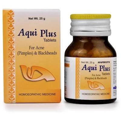 Hapdco Aqui Plus homeopathy Tablets for Acne, Blackheads