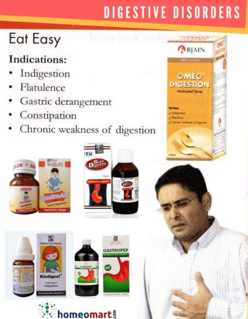 Homeopathy Digestive disorders medicines
