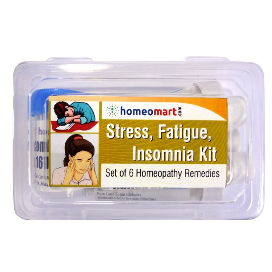 Homeopathy Stress, Fatigue, Insomnia Medicine Kit with Coffea cruda, Ignatia amara