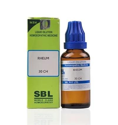 SBL Rheum Homeopathy Dilution 6C, 30C, 200C, 1M, 10M