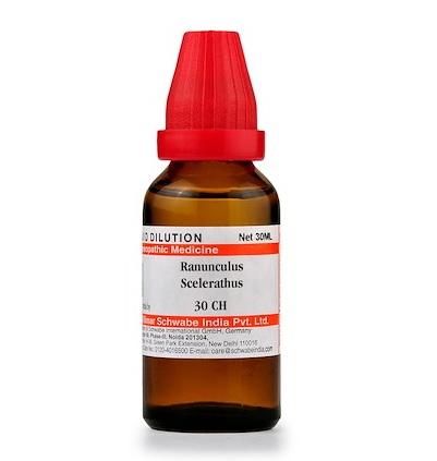 Schwabe Ranunculus Sceleratus Homeopathy Dilution 6C, 30C, 200C, 1M, 10M