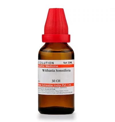 Schwabe Withania Somnifera Homeopathy Dilution 6C, 30C, 200C, 1M, 10M