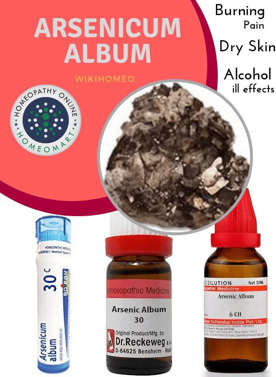 Hoeopathy arsenicum album medicines in pills drops