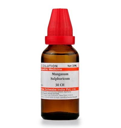 Schwabe Manganum Sulphuricum Homeopathy Dilution 6C, 30C, 200C, 1M, 10M