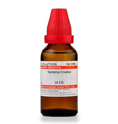 Schwabe Tartarus Crudus Homeopathy Dilution 6C, 30C, 200C, 1M, 10M