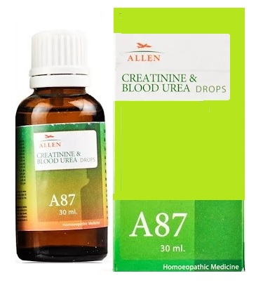 Allen A87 Homeopathy Creatinine and Blood Urea Drops