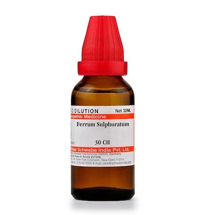 Schwabe Ferrum sulphuratum 30C, 200C, 1M