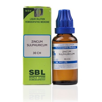 Zincum Sulphuricum Homeopathy Dilution 6C, 30C, 200C, 1M, 10M