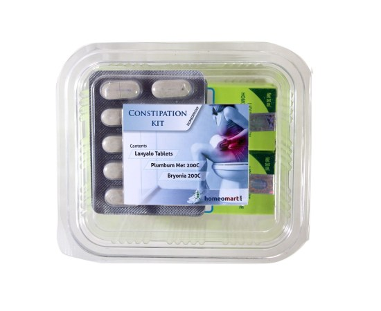 Homeopathy constipation Kit with Laxyalo, Plumbum met 200c, Bryonia 200c