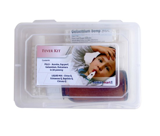Homeopathy fever anti pyretic medicine kit