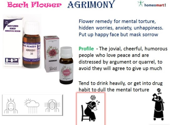 Bach flower remedy agrimony indication profile