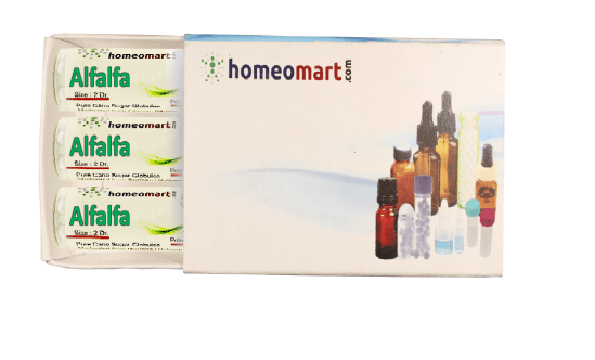 Alfalfa homeopathy pellets