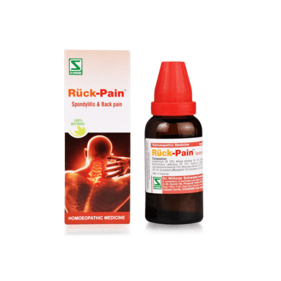 Schwabe Ruck-Pain Drops for Spondylitis & Back Pain