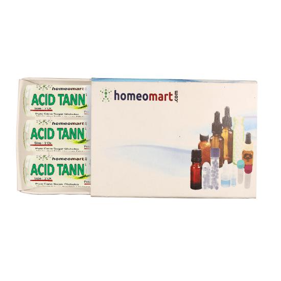 Acidum Tannicum Homeopathy 2 Dram Pellets 6C, 30C, 200C, 1M, 10M