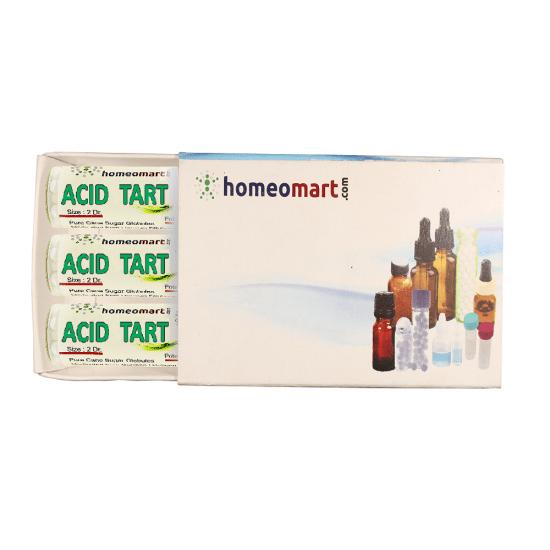 Acidum Tartaricum Homeopathy 2 Dram Pellets 6C, 30C, 200C, 1M, 10M