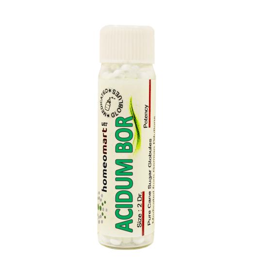Acidum Bor Homeopathy 2 Dram Pellets 6C, 30C, 200C, 1M, 10M