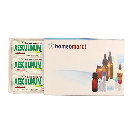 Aesculinum Homeopathy 2 Dram Pellets 6C, 30C, 200C, 1M, 10M