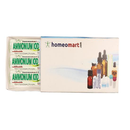 Ammonium Iodatum Homeopathy 2 Dram Pellets 6C, 30C, 200C, 1M, 10M
