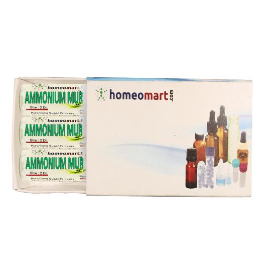 Ammonium Muriaticum Homeopathy 2 Dram Pellets 6C, 30C, 200C, 1M, 10M