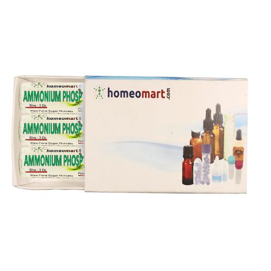 Ammonium Phosphoricum Homeopathy 2 Dram Pellets 6C, 30C, 200C, 1M, 10M