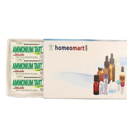 Ammonium Tartaricum Homeopathy 2 Dram Pellets 6C, 30C, 200C, 1M, 10M