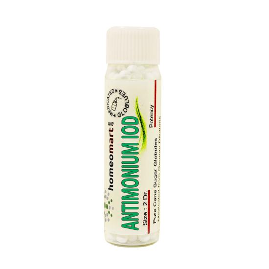 Antimonium Iodatum Homeopathy 2 Dram Pellets 6C, 30C, 200C, 1M, 10M