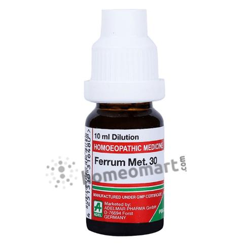 Adel Ferrum Met. Homeopathy Dilution 6C, 30C, 200C, 1M